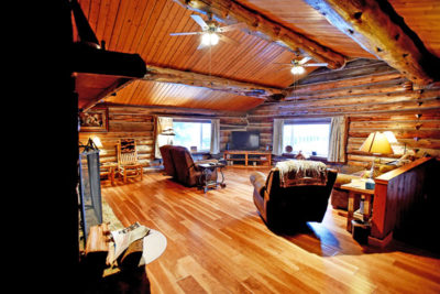 5 Bedroom Log Cabin Rental in Whitefish Montana, the Chisum Lodge