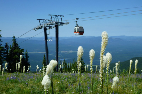 Scenic lift rides on Big Mountain in Whitefish Montana