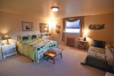 Large Lower Level Bedroom at the Chisum Lodge