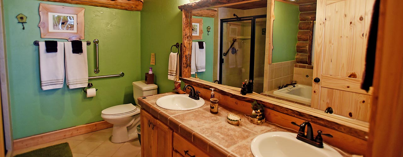 Chisum Lodge in Whitefish Montana Master Bath