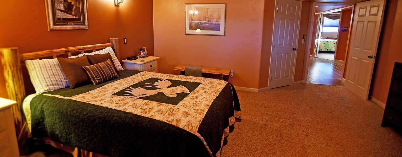 Chisum Lodge in Whitefish Montana Moose Bedroom