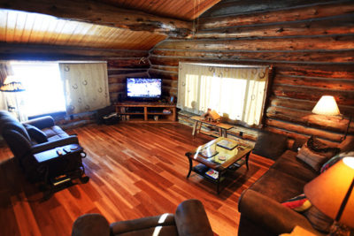 Living Room on the Main Floor of the Chisum Lodge