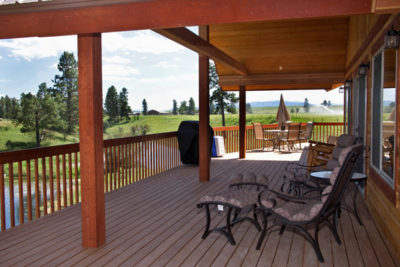 Covered Deck of the River View Lodge