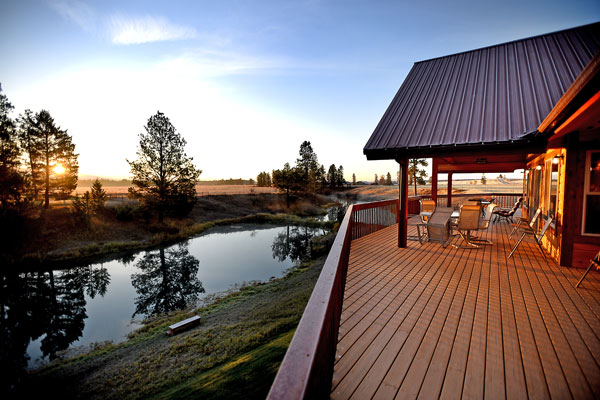 Facing East at Sunrise - River View Lodge