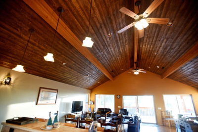 Kitchen Ceiling in Vacation Rental - River View Lodge