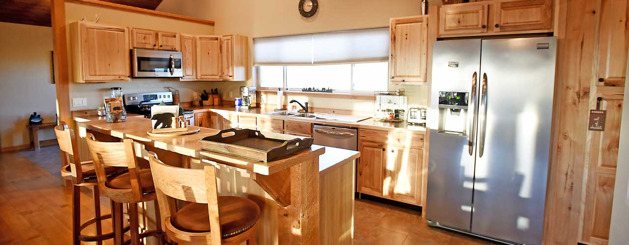Kitchen at the River View Lodge Vacation Rental