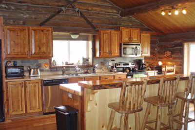 Kitchen at the Chisum Lodge in Whitefish Montana