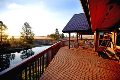 Morning at River View Lodge in Whitefish Montana
