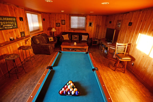 Pool Table at the Chisum Lodge in Whitefish Montana