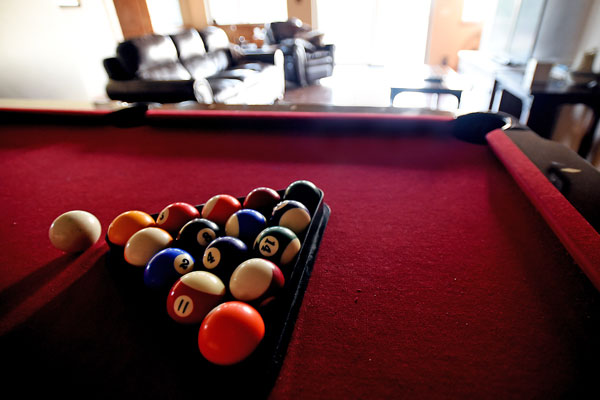 Pool Table in Vacation Rental River View Lodge