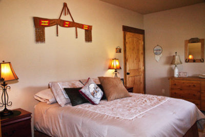 Queen Bedroom on the Main Floor, River View Lodge