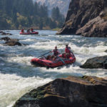 Rafting the Flathead River near Glacier Park in Montana