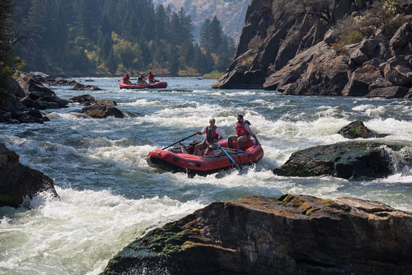 Whitewater rafting near Glacier National Park in Montana