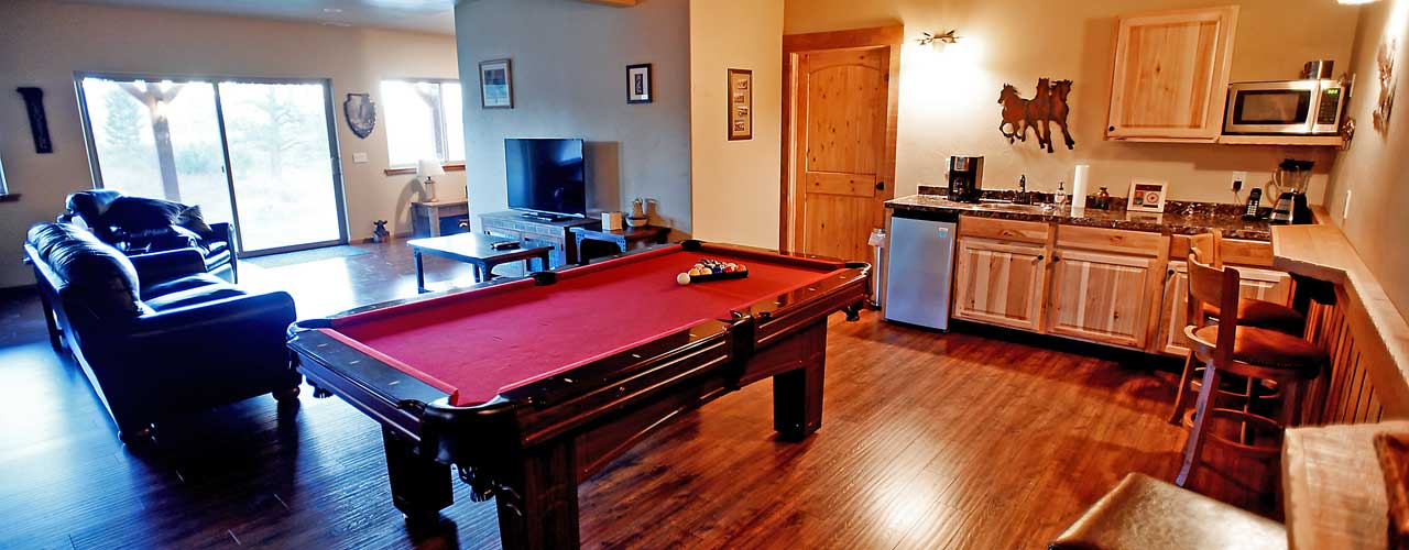 Rec Room at River View Lodge Vacation Rental