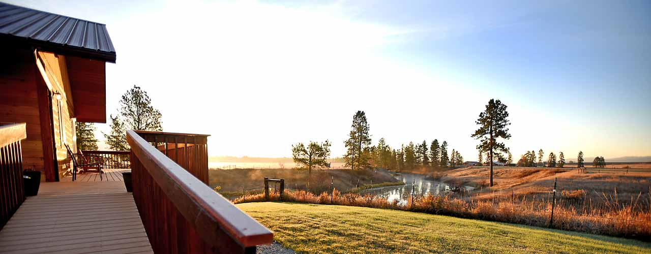 Sunrise at River View Lodge in Whitefish