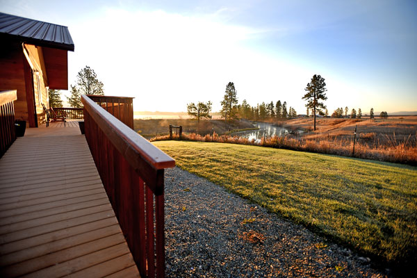 Sunrise at River View Lodge in Whitefish Montana