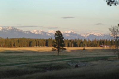 Swan Mountain Range Views From River Meadow Ranch