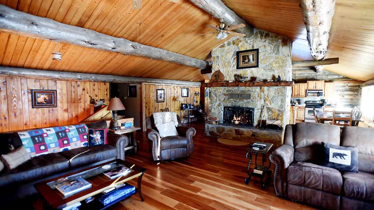 Living Room Log Cabin